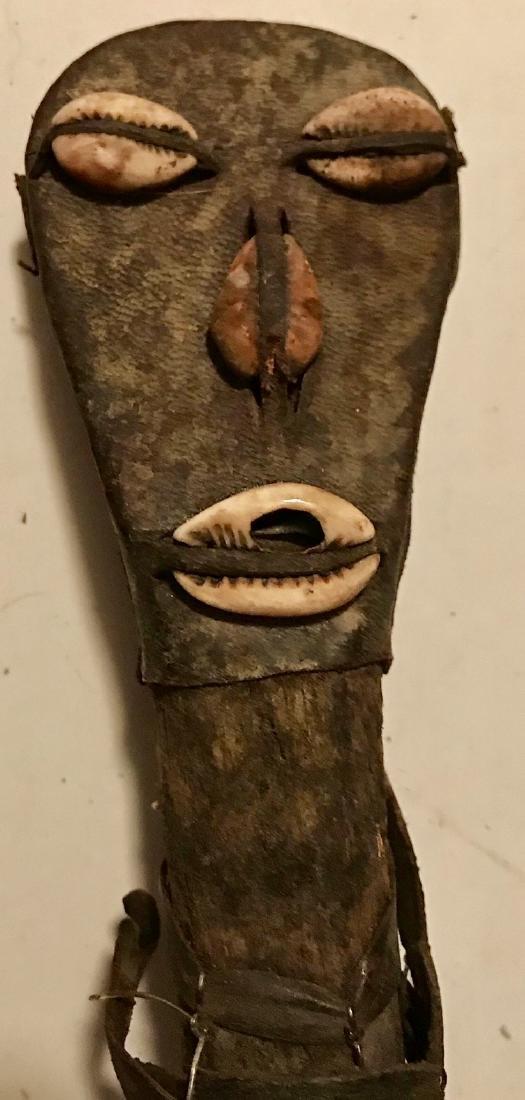 African Folk Art Instrument W/ Ancestral Carvings KORA - 4