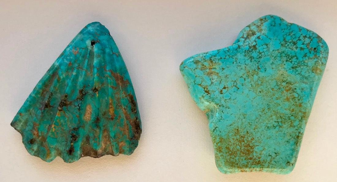 Two Large Natural Turquoise Specimen Stones