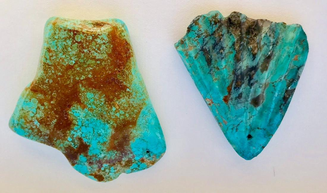 Two Large Natural Turquoise Specimen Stones - 2