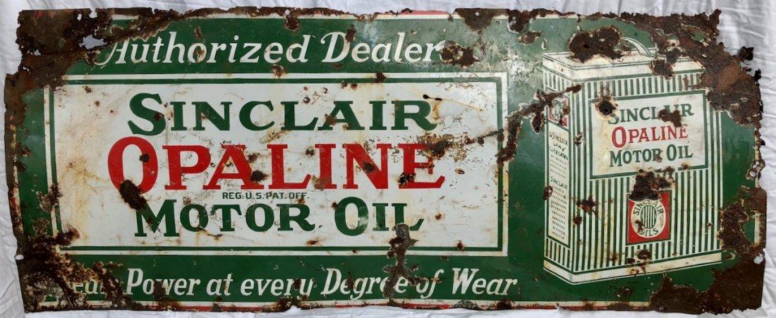 Porcelain Sinclair Opaline Motor Oil Authorized Sign