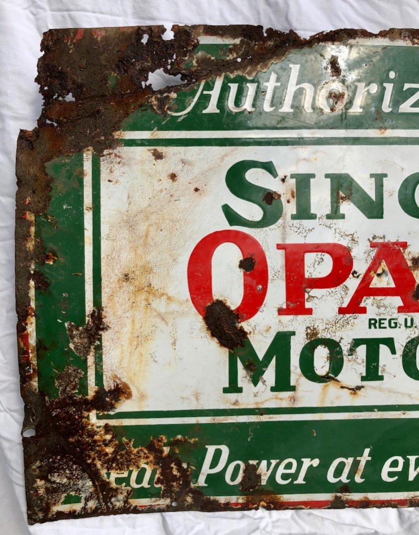 Porcelain Sinclair Opaline Motor Oil Authorized Sign - 2