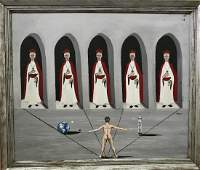 Surreal Fantasy Painting JUDGEMENT DAY Reyes 1960s