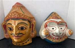 Indian Deity Paper Mache Masks DEMON  LORD JAGANNATH