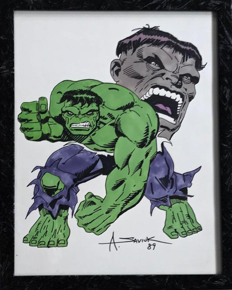 Marvel Comics HULK Illustration Art ALEX SAVIUK