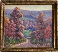 American Impressionist Landscape Painting COliver 1945