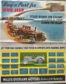 WW2 Army War Bond Jeep Campaign Poster