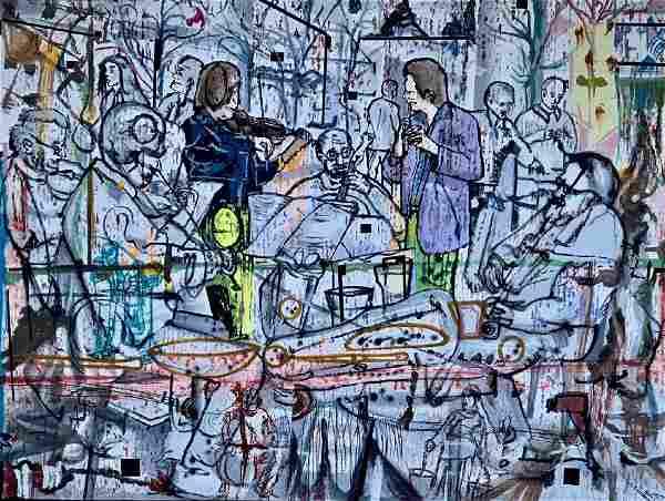 Yair Garbuz (Israeli, b.1945) Abstract Musicians