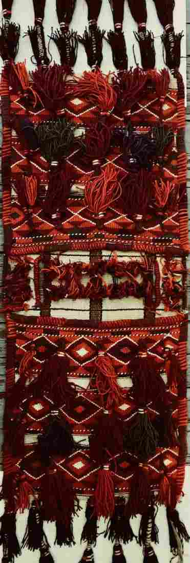Middle Eastern Hand Woven Double Saddle Bag Rug