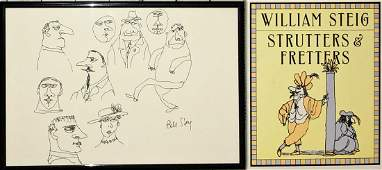 William Steig Original Drawing & Signed Book