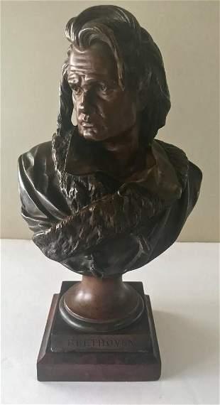 ALBERT CARRIER-BELLEUSE Bronze Sculpture BEETHOVEN