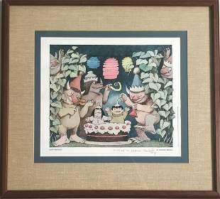 Sendak Signed & Inscribed Rare 1st Edition Poster
