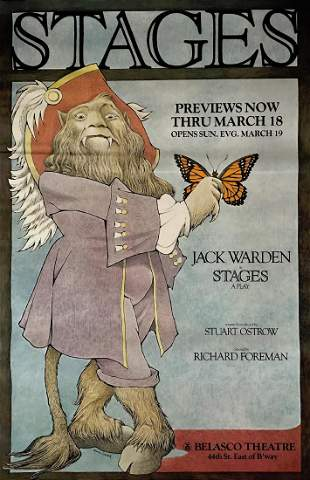 STAGES Theater Poster Illustrated Maurice Sendak, 1978