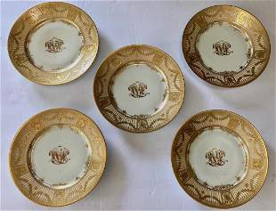 Dresden Gilt-Decorated Service Plates