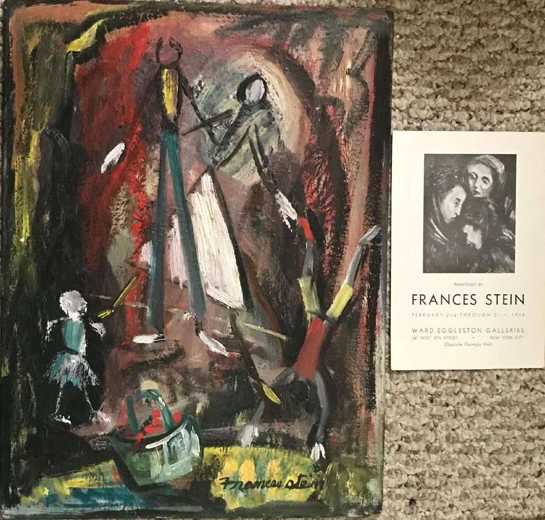 Mid-Century Abstract Figural Painting FRANCIS STEIN