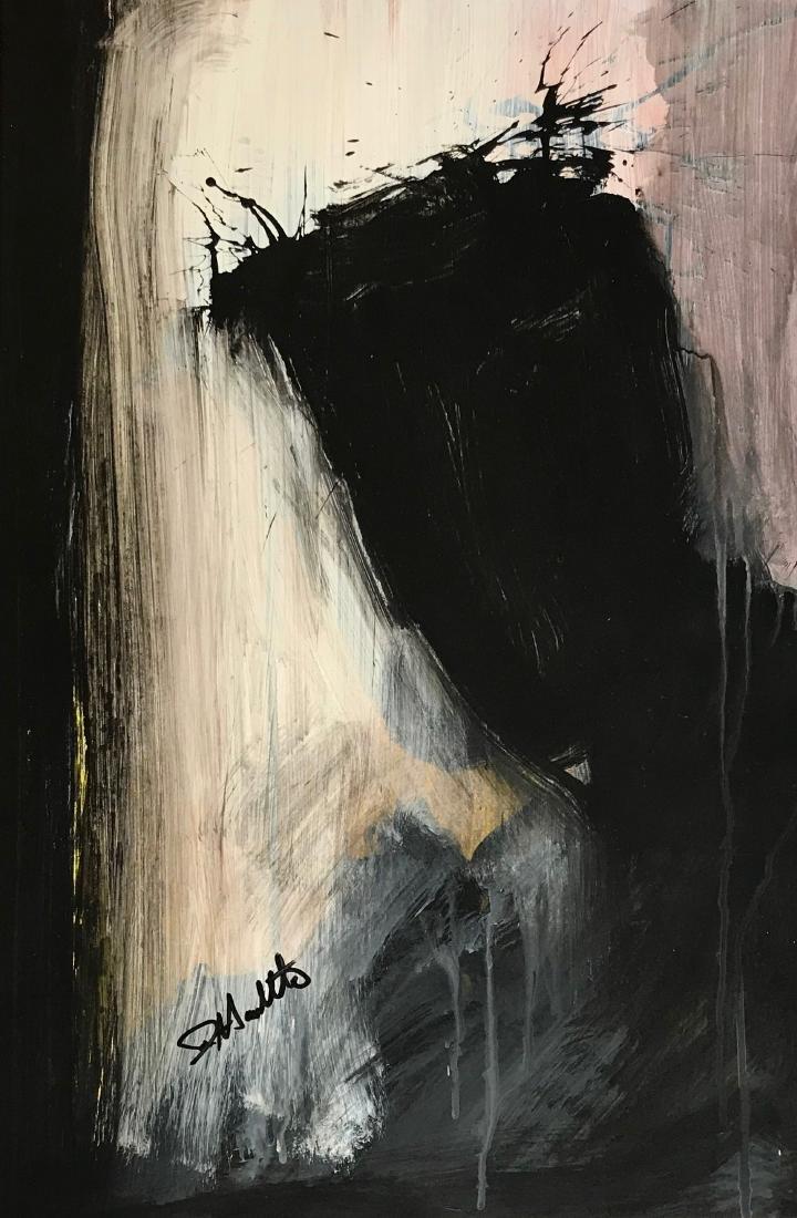 Richard Hambleton SHADOW MAN Painting