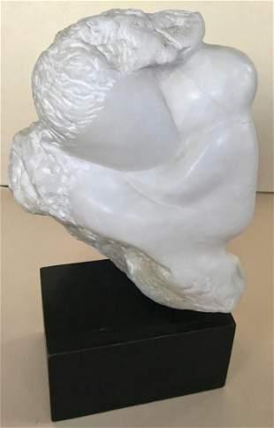 Mid-Century Modern Marble Stone Sculpture, Viola Baer