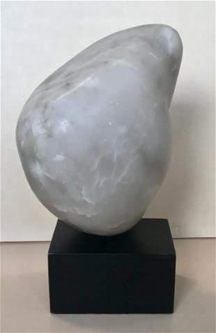 Modern Free Form Marble Stone Sculpture, Viola Baer