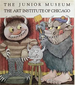 Chicago Art Institute Hand-Signed Maurice Sendak