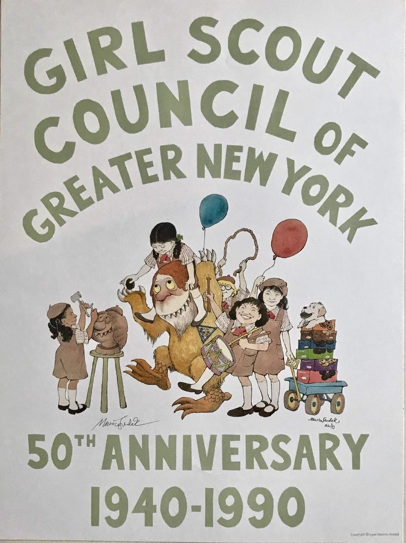 Girl Scout 50th Anniversary Hand-Signed SENDAK