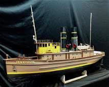 American Ship Boat Model Tugboat LACKAWANNA