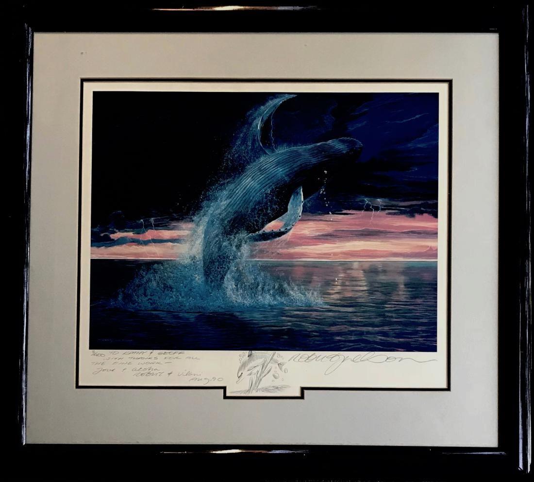 Robert Lyn Nelson Drawing / Serigraph MARINE WHALE