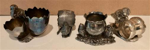 Victorian Silver Plate Napkin Rings  Pick Holders 4