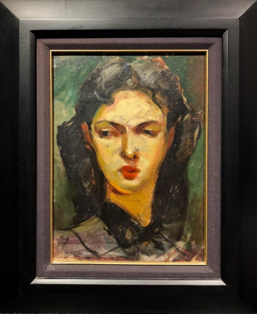 Walt Kuhn (American, 1877-1949) Portrait Oil Painting