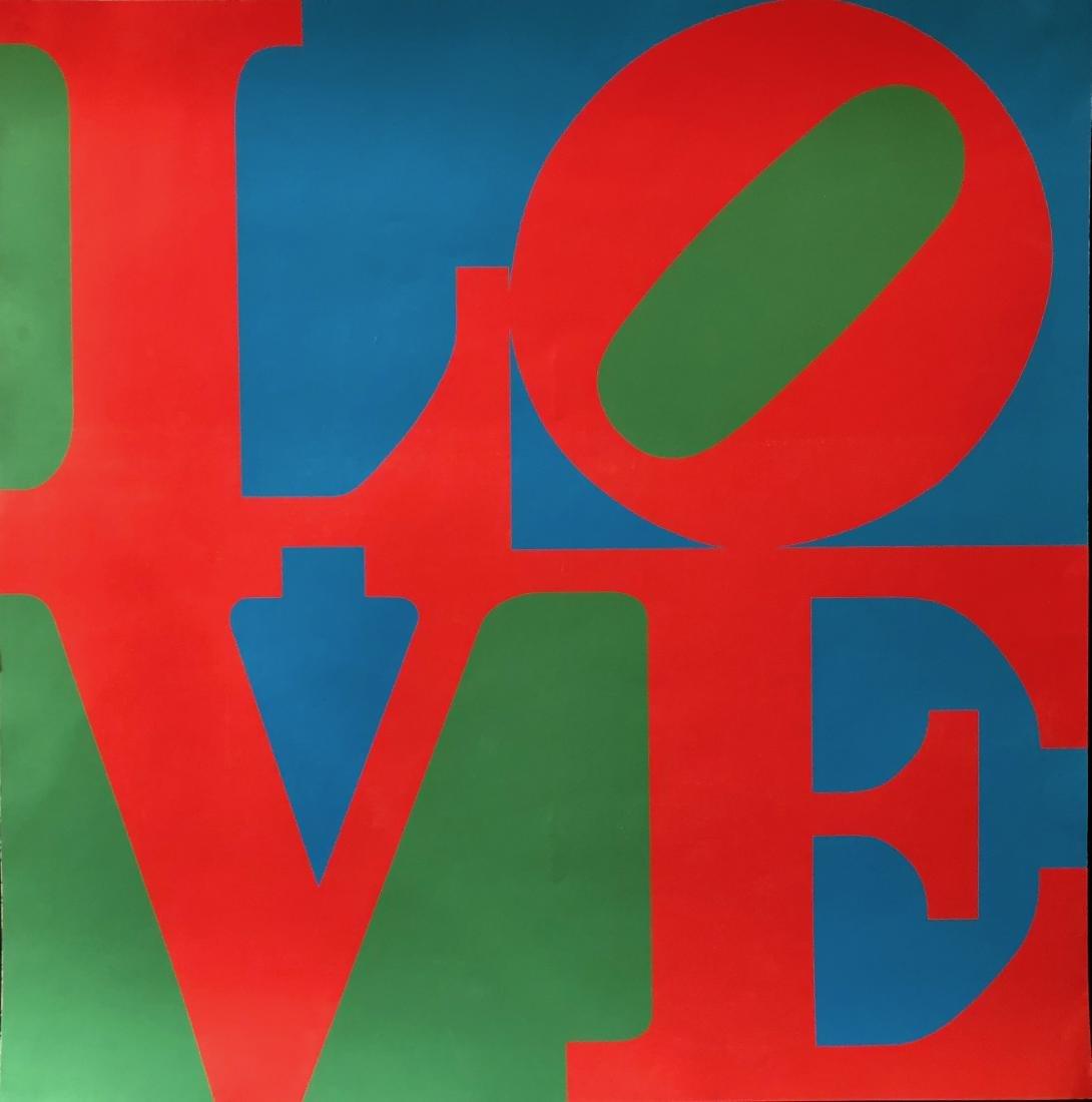 Robert Indiana LOVE Silkscreen Poster 1960s