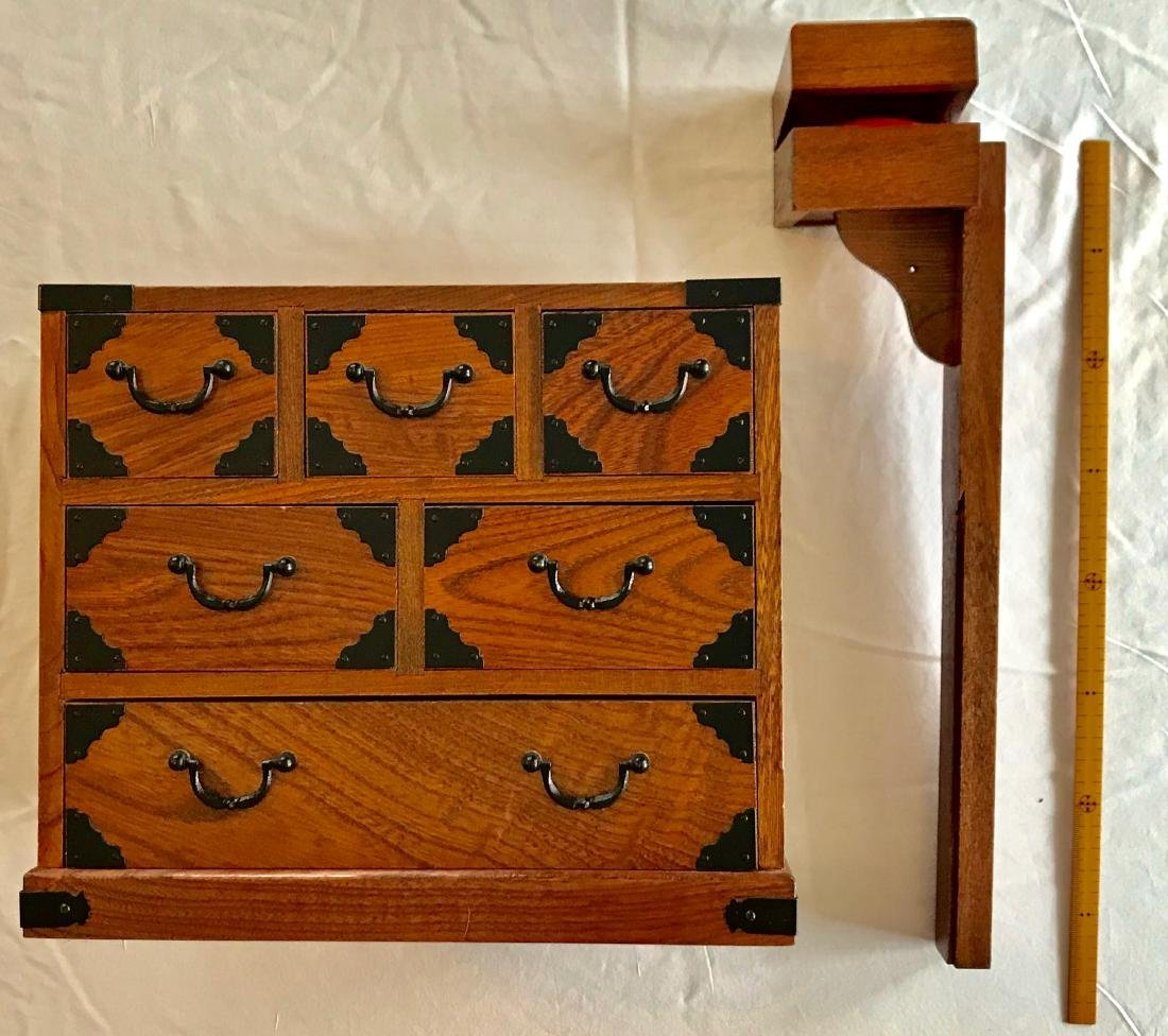 Antique Japanese Wood Sewing Cabinet - 3