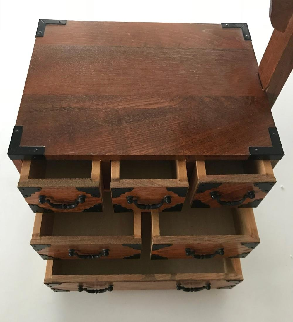Antique Japanese Wood Sewing Cabinet - 4