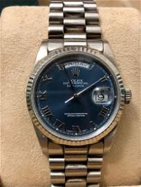 Rolex Oyster Perpetual Day-Date 18k White Gold Watch