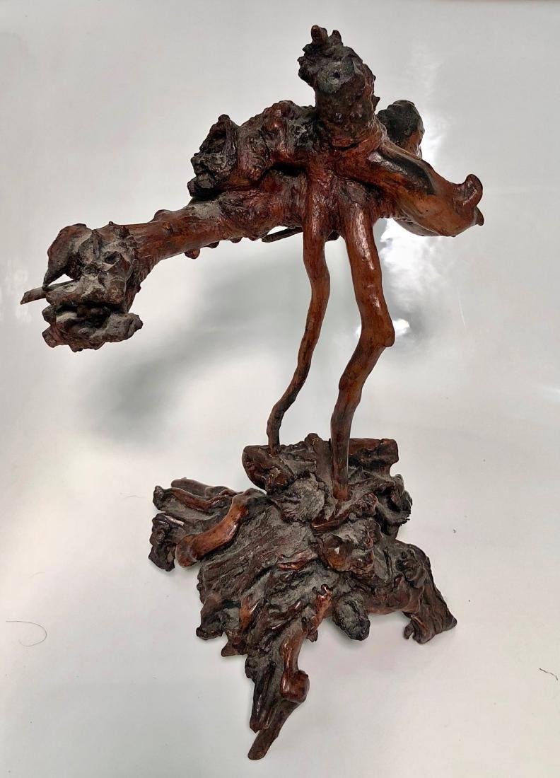Antique Japanese Root Wood Bird Sculpture 1900s - 6