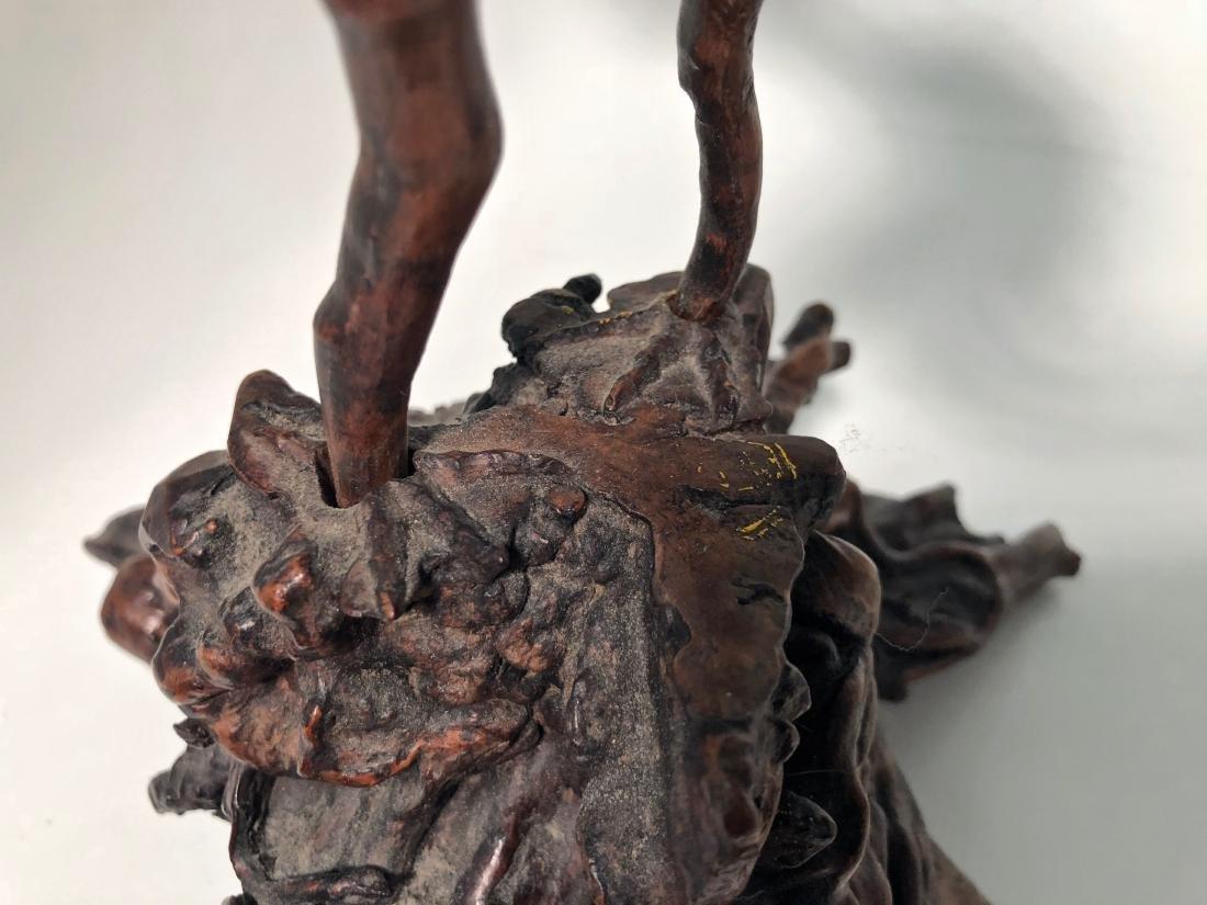 Antique Japanese Root Wood Bird Sculpture 1900s - 8