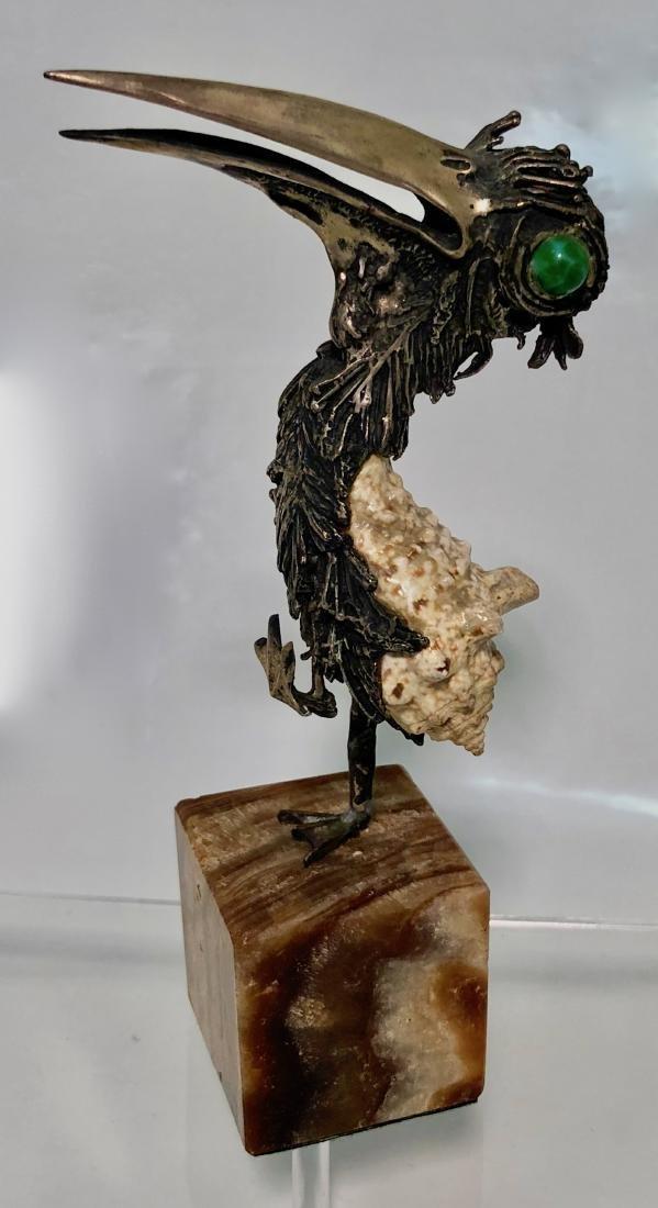 Mid-Century Modernist Bird Sculpture TENO AURELIO