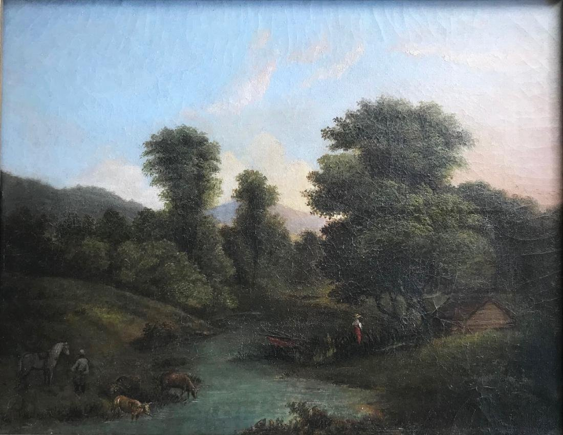 Hudson River School Oil Painting H.Ely, N.Y. ca.1870 - 2