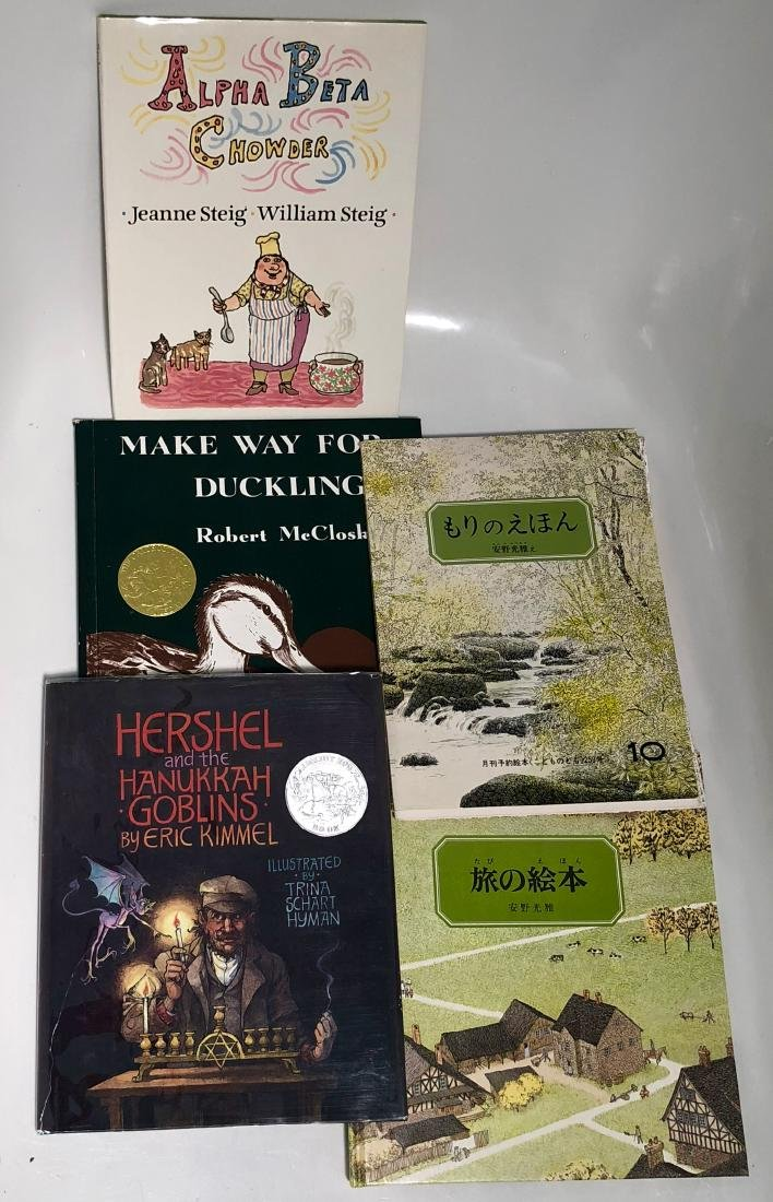 Childrens Books Hand-Signed STEIG,ANNO,KIMMEL,McCLOSKEY