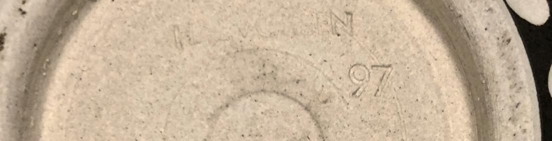 Halvorsen Stoneware Footed Bowls W/ Sgraffito (2) - 6