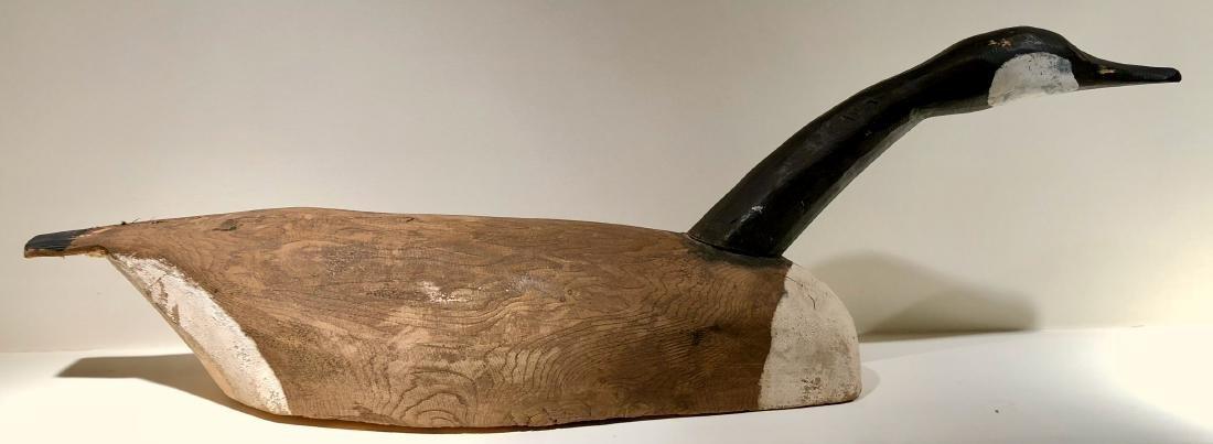 Primitive Hand Carved Canadian Goose Decoy