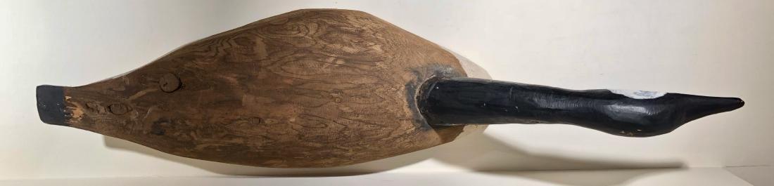 Primitive Hand Carved Canadian Goose Decoy - 6