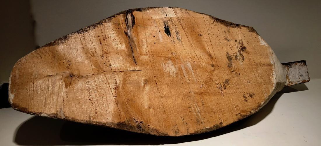 Primitive Hand Carved Canadian Goose Decoy - 7