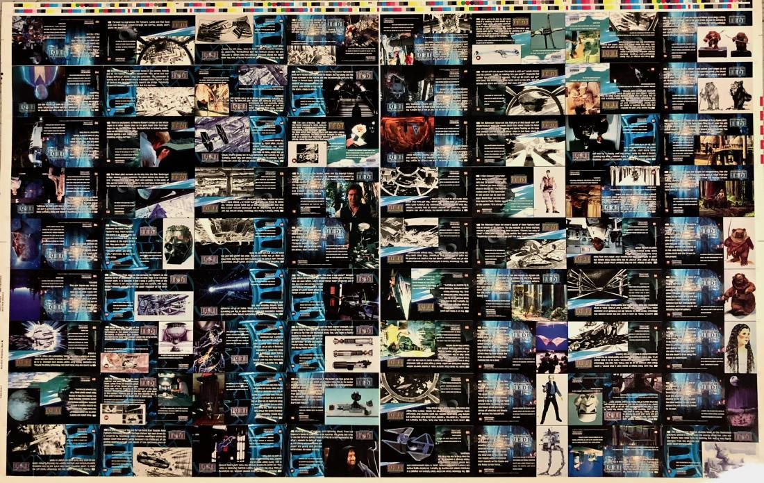 Star Wars RETURN OF THE JEDI Uncut Trading Card Sheets