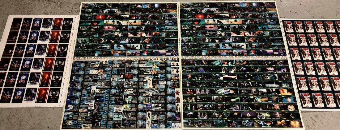 Star Wars RETURN OF THE JEDI Uncut Trading Card Sheets - 2