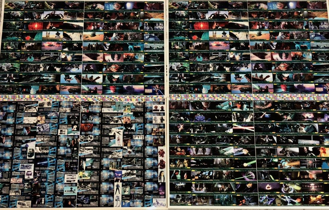 Star Wars RETURN OF THE JEDI Uncut Trading Card Sheets - 3