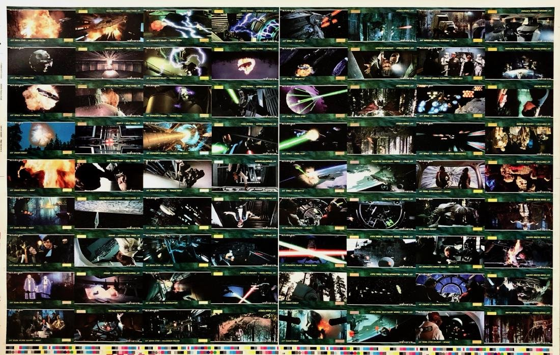 Star Wars RETURN OF THE JEDI Uncut Trading Card Sheets - 4