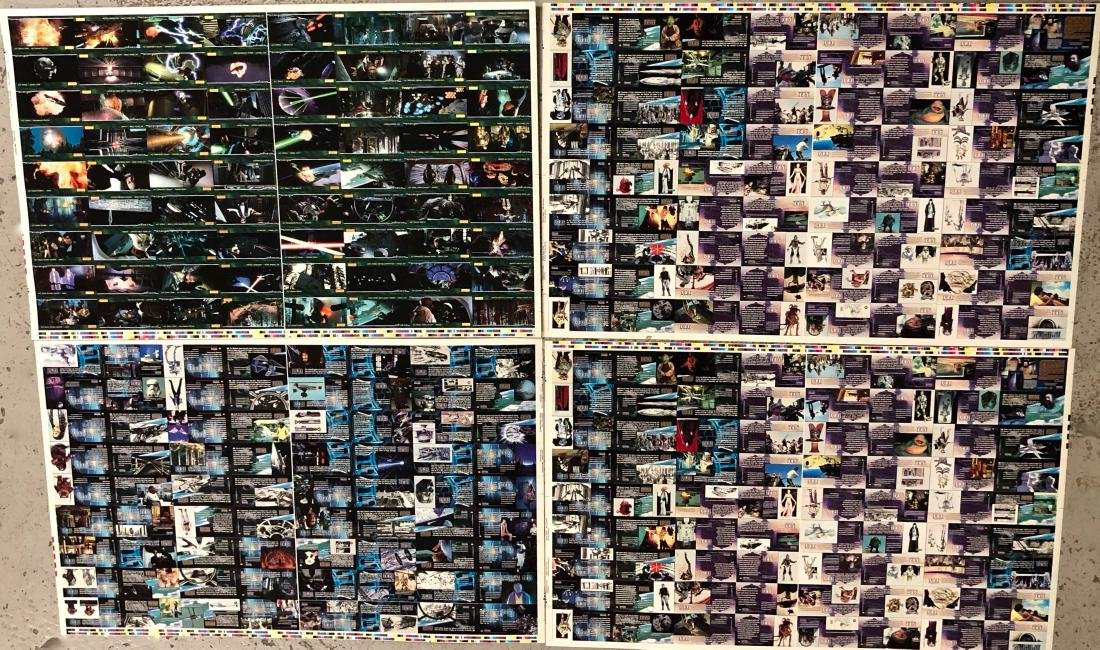 Star Wars RETURN OF THE JEDI Uncut Trading Card Sheets - 5