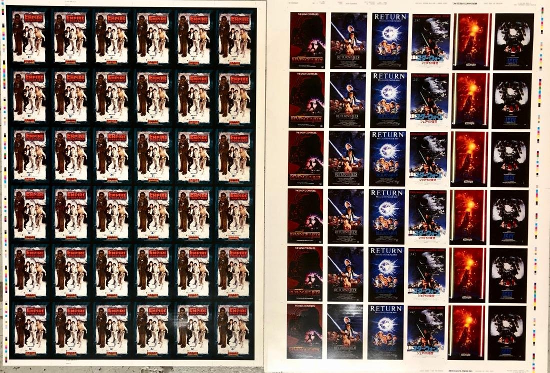 Star Wars RETURN OF THE JEDI Uncut Trading Card Sheets - 6