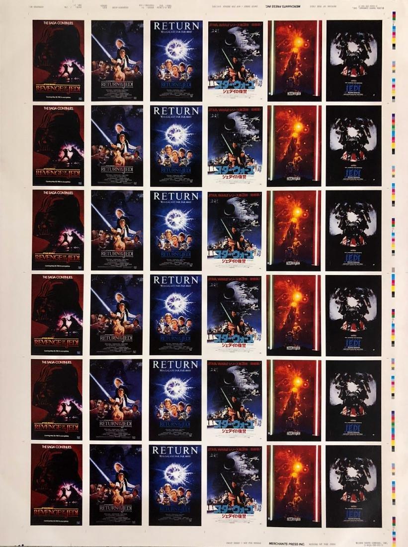 Star Wars RETURN OF THE JEDI Uncut Trading Card Sheets - 8