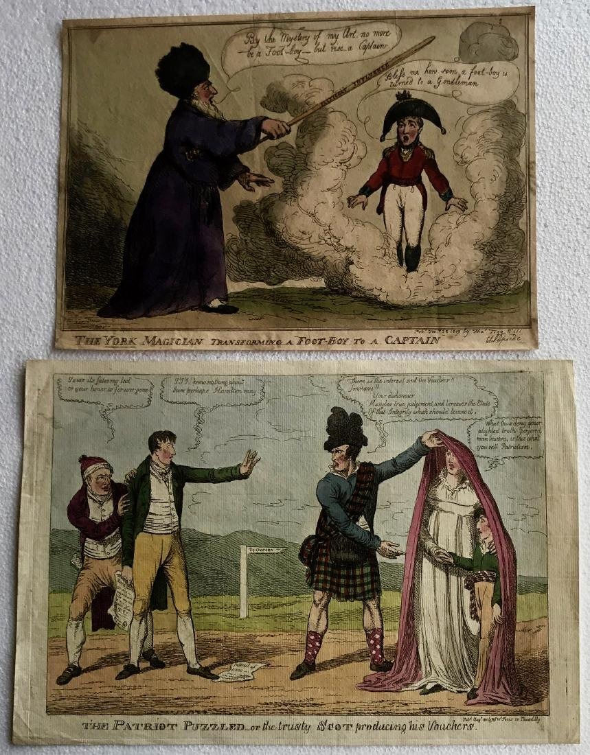 19th C. Hand-Colored Etchings T.ROWLANDSON & C.WILLIAMS