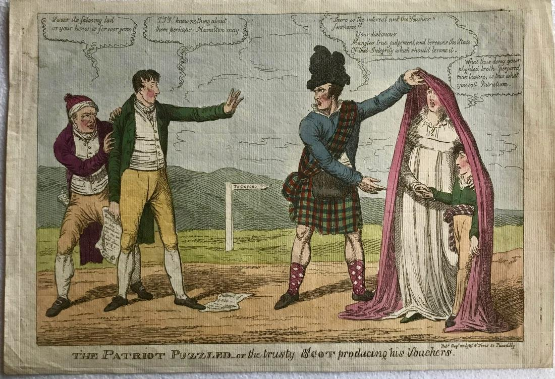 19th C. Hand-Colored Etchings T.ROWLANDSON & C.WILLIAMS - 4
