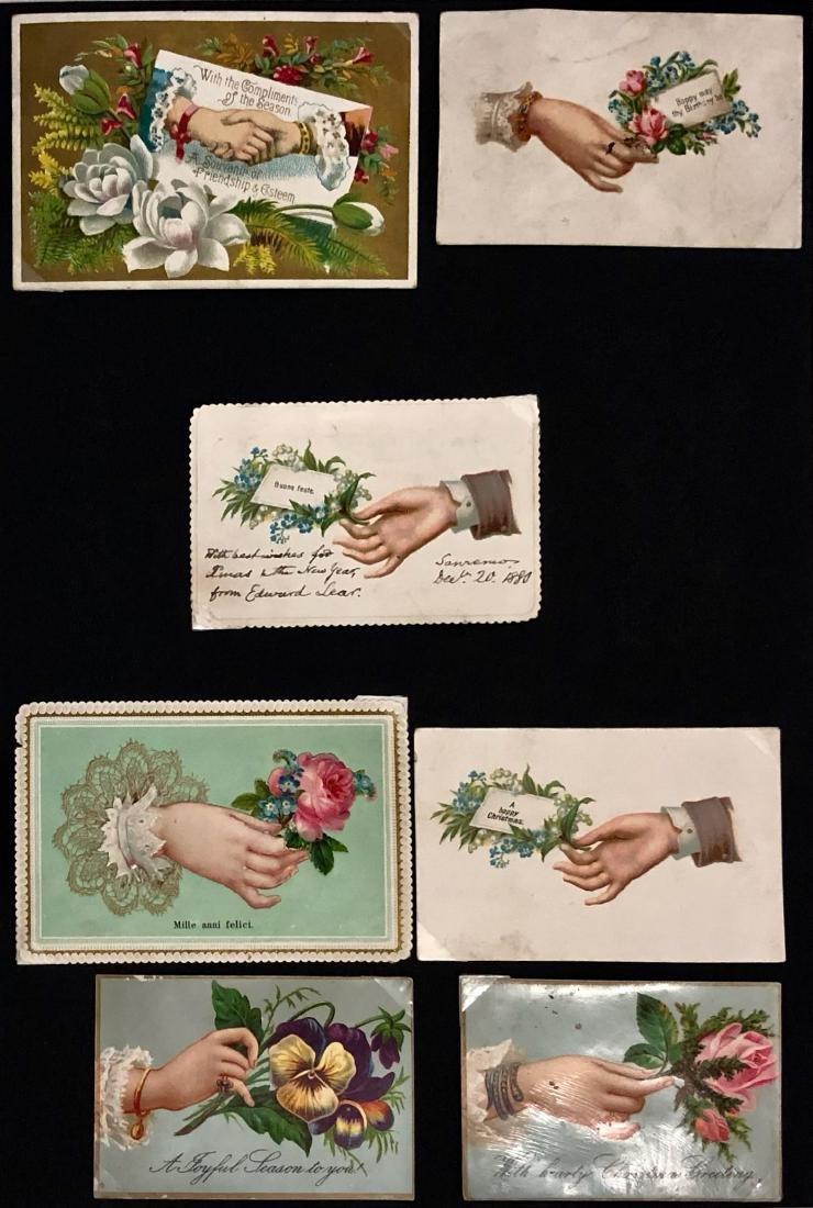 EDWARD LEAR Handwritten Christmas Card To Lady Wyatt